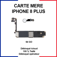 Carte mère pour iphone 8 plus - 64 Go - Bouton home blanc